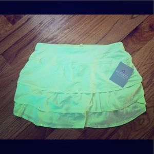 Athleta Swagger Skort in bright yellow/lime